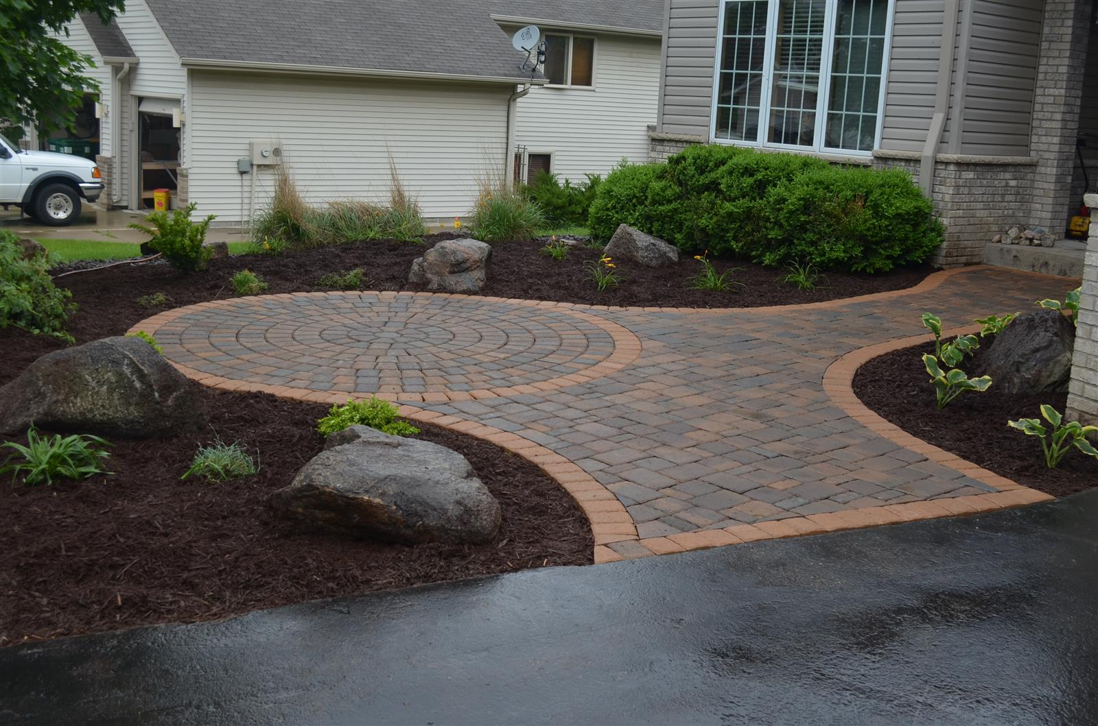 burnsville front entry patio  u2013 ns landscapes