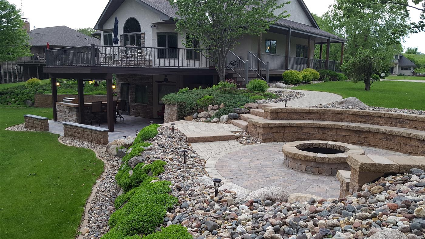 Cannon Lake Firepit Patio Amp Outdoor Kitchen Ns Landscapes