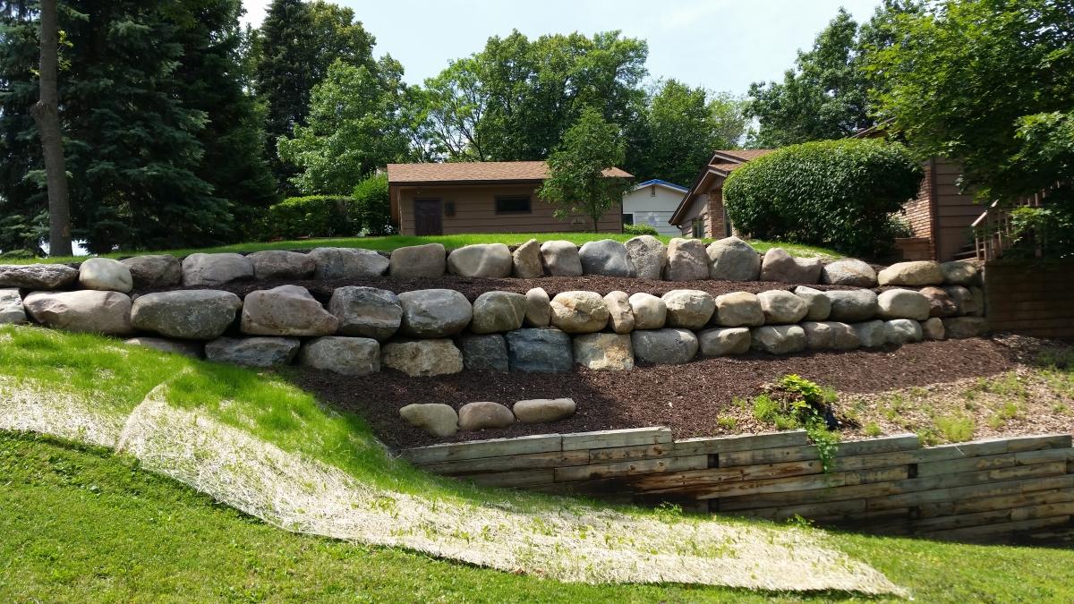 Block Natural Stone Or Boulder Wall Retaining Walls Ns