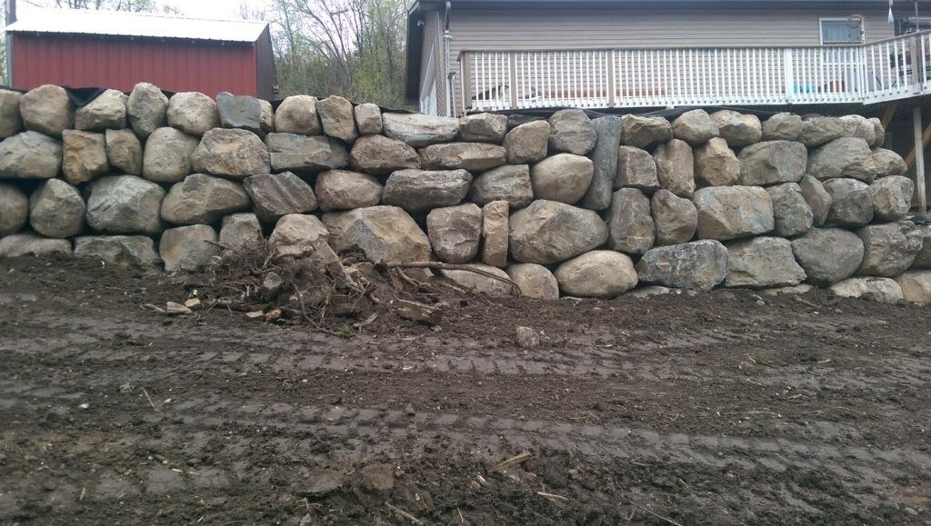 Block Natural Stone Or Boulder Wall Retaining Walls Ns