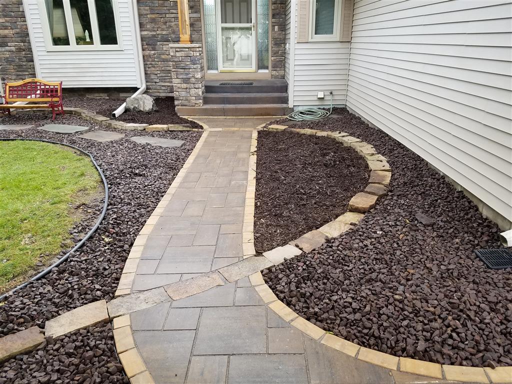 Natural Stone Inlay Paver Sidewalk Ns Landscapes