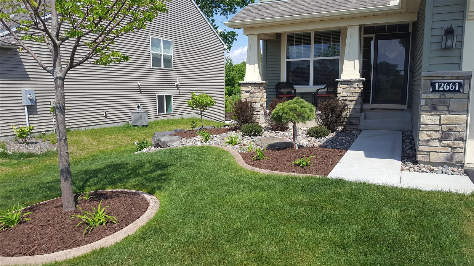 Low Maintenance Planting Bed In Savage Ns Landscapes