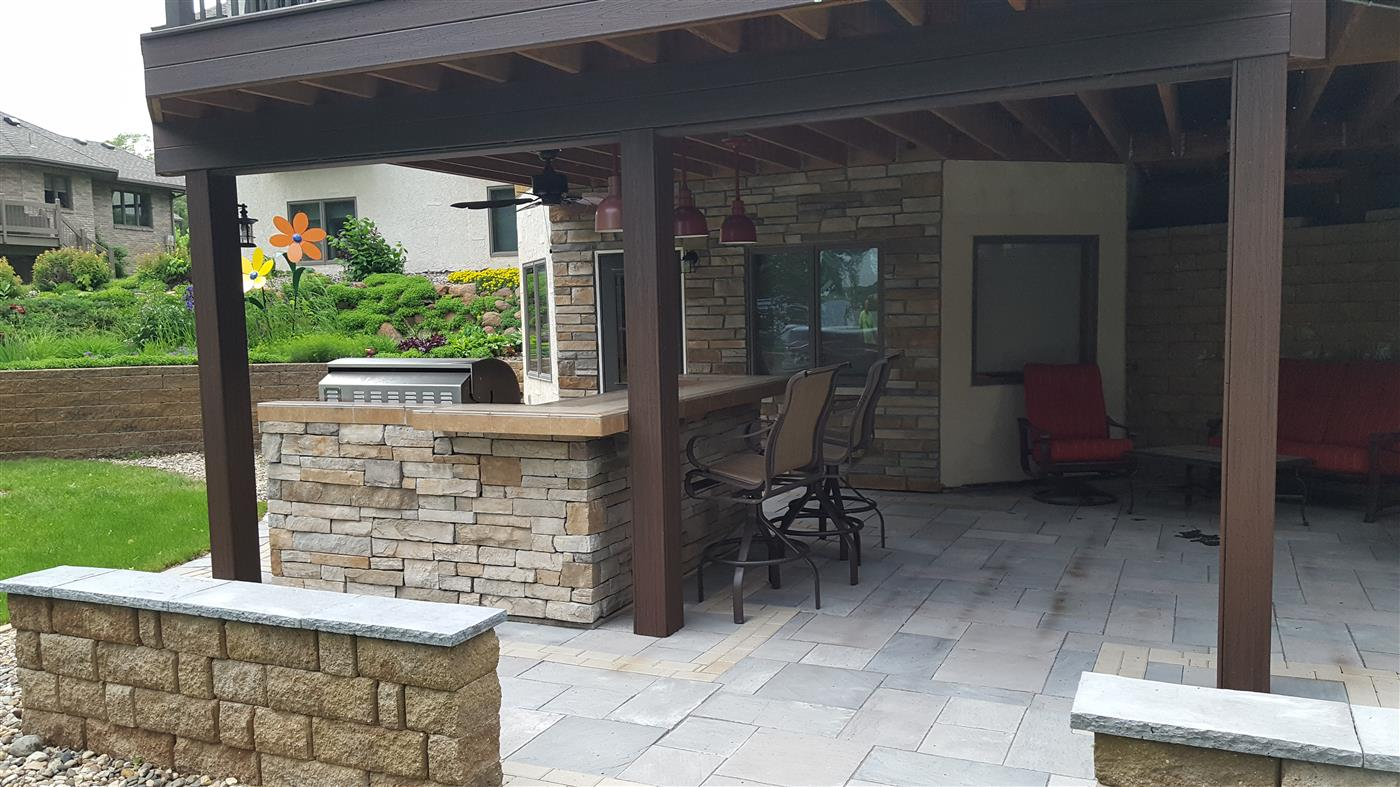 Cannon Lake Firepit Patio Outdoor Kitchen Ns Landscapes