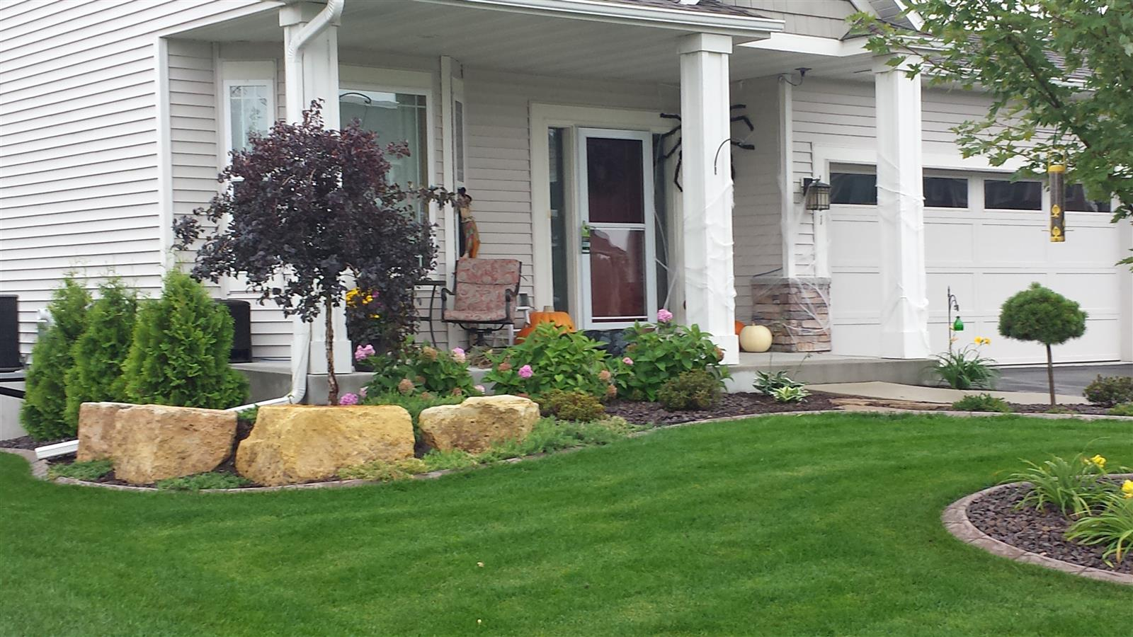 shakopee planting beds with curb edging u2013 ns landscapes