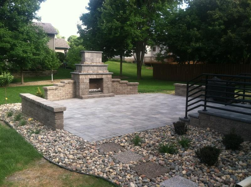 Custom Outdoor Fireplace Patio – NS Landscapes