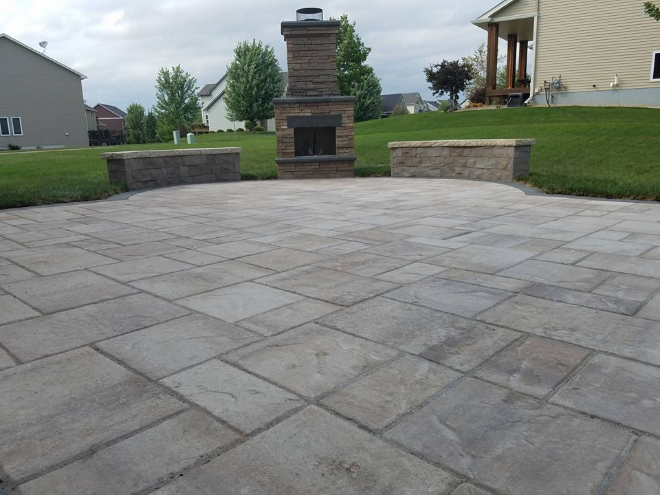 Belgard Rustic Slab patio in Savage